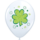 St. Patrick's Day Balloons St. Patrick's Shamrock Balloons Image