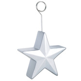 New Years Decorations Silver Star Balloon Holder Image
