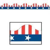 4th of July Decorations Patriotic Border Trim Image