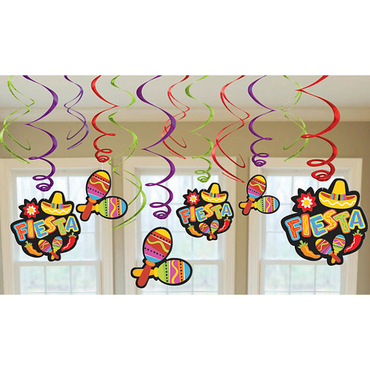 Cinco de Mayo Decorations Fiesta Swirl Danglers Image
