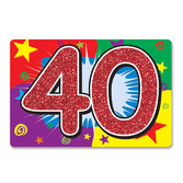 Birthday Party Decorations Glittered 40 Sign Image