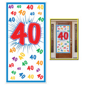 Birthday Party Decorations 40th Door Cover Image