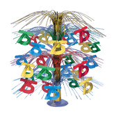 Birthday Party Decorations 75th Multicolor Cascade Centerpiece Image