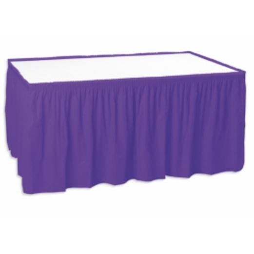 Mardi Gras Table Accessories Purple Table Skirt Image