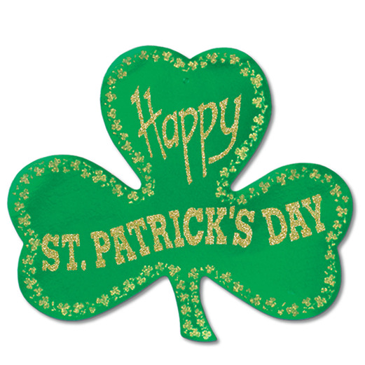 glittered foil shamrock - St Patricks Day Decorations