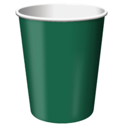 Mardi Gras Table Accessories Hunter Green Cups Image