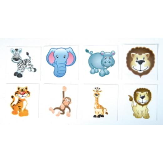 Jungle & Safari Favors & Prizes Zoo Animal Tattoos Image