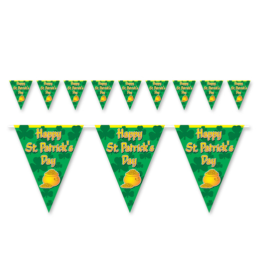 St. Patrick's Day Decorations St. Patrick's Day Pennant Banner Image