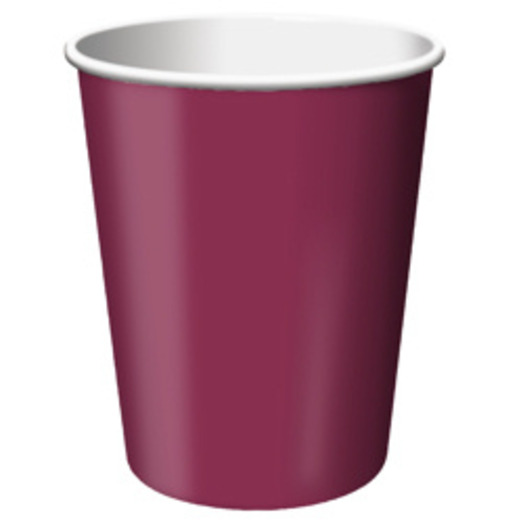 Table Accessories Burgundy Cups Image