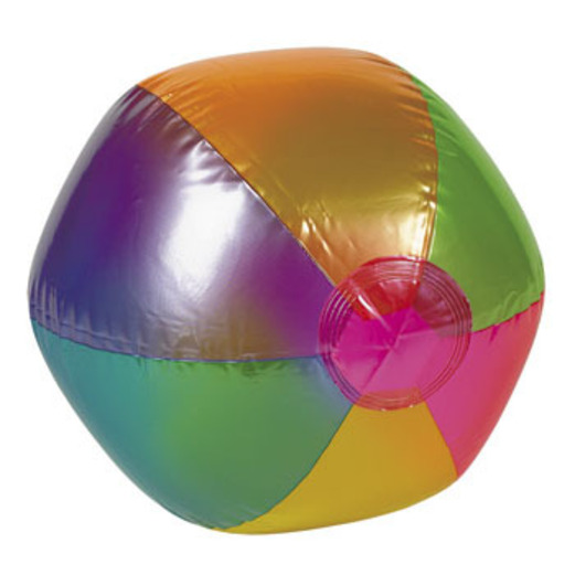 Luau Favors & Prizes Metallic Beach Ball Inflate Image