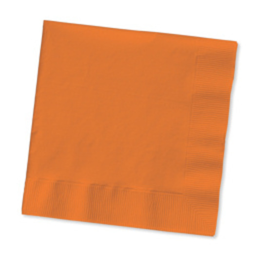 Halloween Table Accessories Orange Luncheon Napkins Image