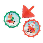 Christmas Favors & Prizes Plastic Christmas Spin Tops Image