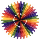 Cinco de Mayo Decorations Rainbow Tissue Fan Image