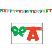 Anniversary Decorations Multicolor Anniversary Streamer Image