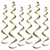 Mardi Gras Decorations Gold Twirly Whirlys Image