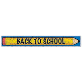 Back to School Decorations Metallic Back to School Fringe Banner Image