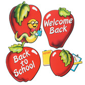 Back to School Decorations School Days Apple Cutouts Image