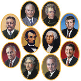 Back to School Decorations American President Cutouts Image