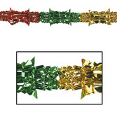 Christmas Decorations Multicolor Metallic Garland Image