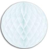 "Wedding Decorations 12"" White Tissue Ball Image"