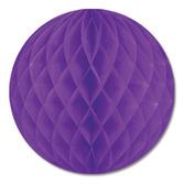 "Mardi Gras Decorations 12"" Purple Tissue Ball Image"
