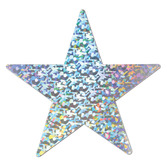 "New Years Decorations 15"" Prismatic Silver Star Image"