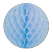 """Baby Shower Decorations 12"""" Light Blue Tissue Ball Image"""