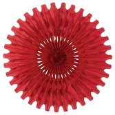 Valentine's Day Decorations Red Tissue Fan Image