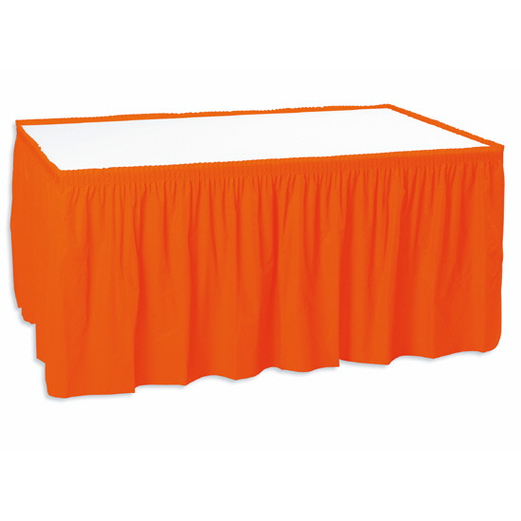 Halloween Table Accessories Table Skirt Orange Image