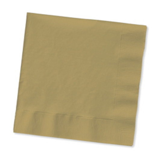 Anniversary Table Accessories Metallic Gold Beverage Napkins Image