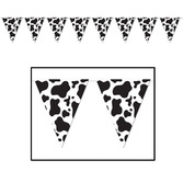 Western Decorations Cow Print Pennant Banner Image