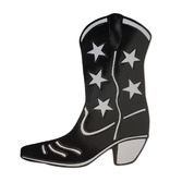 Western Decorations Black Foil Cowboy Boot Cutout Image