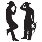 Western Decorations Cowboy Silhouettes Image