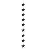 Decorations Black Star Stringer Image