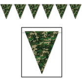 Western Decorations Camo Flag Pennant Banner Image