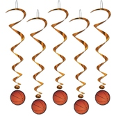 Sports Decorations Basketball Whirls Image
