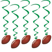 Sports Decorations Football Whirls Image