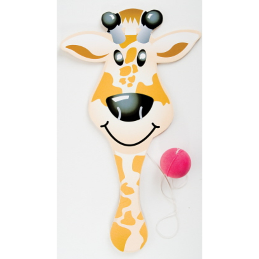 Birthday Party Favors & Prizes Zoo Animal Paddle Balls Image