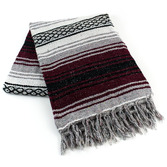 Cinco de Mayo Decorations Burgundy Mexican Blanket Image