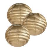 Decorations Gold Paper Lanterns Image