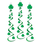 St. Patrick's Day Decorations Shamrock Whirls Image