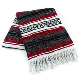 Cinco de Mayo Decorations Red Mexican Blanket Image