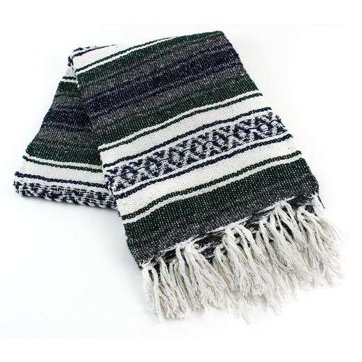 Cinco de Mayo Decorations Hunter Green Mexican Blanket Image