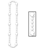 Sports Party Wear White Football Bead Necklace Image