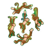 Jungle & Safari Decorations Mini Monkey Cutouts Image