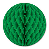 "St. Patrick's Day Decorations 12"" Green Tissue Ball Image"