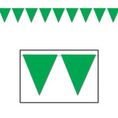 St. Patrick's Day Decorations Green Pennant Banner Image