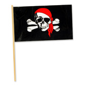 "Halloween Decorations 4""x6"" Pirate Plastic Flags Image"