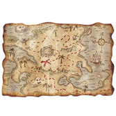 Pirates Decorations Plastic Treasure Map Image