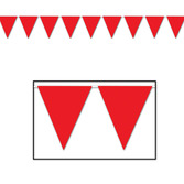 Valentine's Day Decorations Red Pennant Banner Image